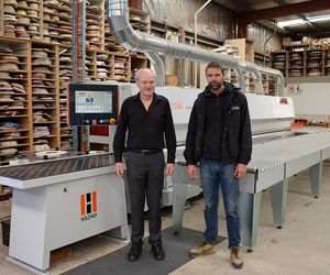 Customer Walls Bros HOLZHER Australie avec plaqueuses de chants ACCURA et SPRINT